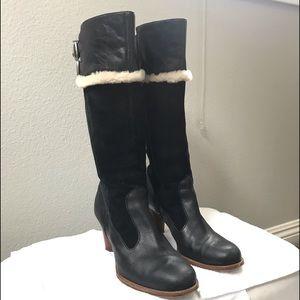 UGG Raya 5598 Black Heeled Boots